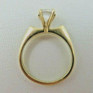 10k Square Shoulder Modern Engagement Solitaire Ring
