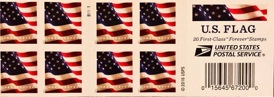 FREE One 1 Sheet Of Twenty 20 USPS 049 050 On 21 Forever US Flag Stamps