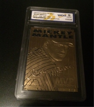 1996 bleachers Mickey mantle  23k gold card