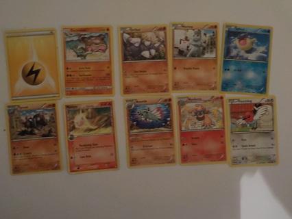 10 POKEMON TRADING CARDS LOT 12
