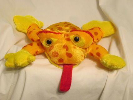 Stocking Stuffer Frog Orange Yellow Dots Long Red Tongue