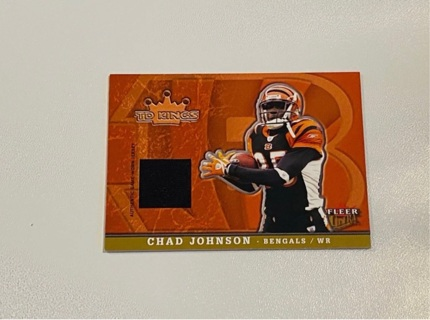 2005 Fleer Chad Johnson Jersey Card- Seq# 106/250