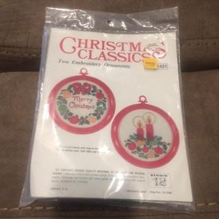 Embroidery Christmas Classics ornamentsNEW