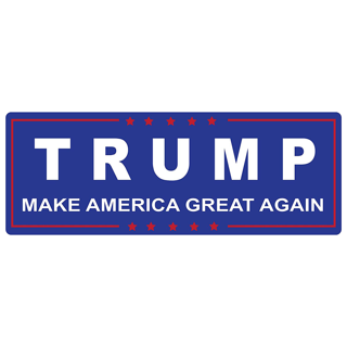 1 PC Trump Make America Great Again Decal Bumper Sticker Donald USA