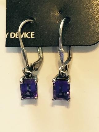 Beautiful amethyst hanging earrings
