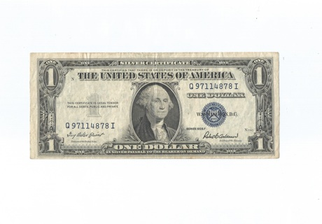 silver certificate dollar bill collectible free shipping
