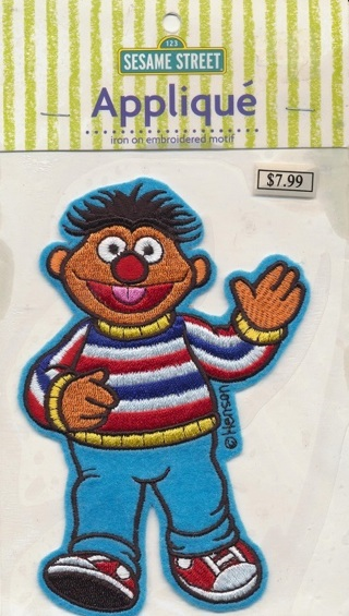Sesame Street Applique - Iron on, Washable, Really Cute! - APP-100