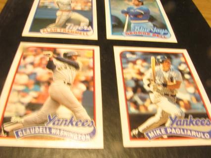 FOUR BASEBALL CARDS