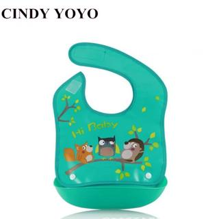 Detachable Baby Bibs EVA Plastic Waterproof Infant Apron Towels For Kids Feeding Cartoon Baby Bibs