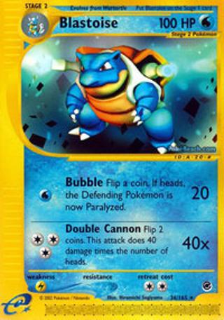 1 Blastoise 36/165 Rare Expedition Pokemon Card Anime Manga Pokemon Cards TCG