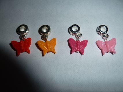 4 color Resin Euro Butterfly Charms