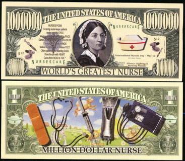 ✹World's Greatest Nurse Collectible Million $ Bill - NEW