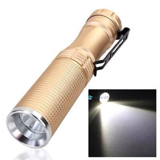 7W CREE XPE-Q5 LED 14500 AA Flashlight Portable Torch Champagne TR