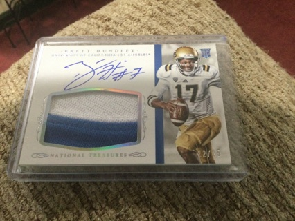 2015 National Treasures Brett Huntley Rookie Patch Auto RC RPA /25 Packers Bruins