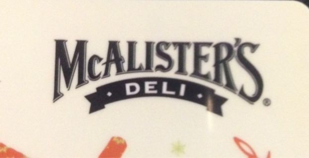$2.64 McAlister's Gift Card