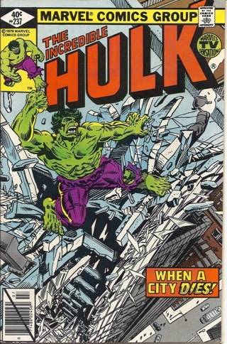 (CB-7) 1979 Marvel Comic Book: The Incredible Hulk #237 { Diamond Price cover }