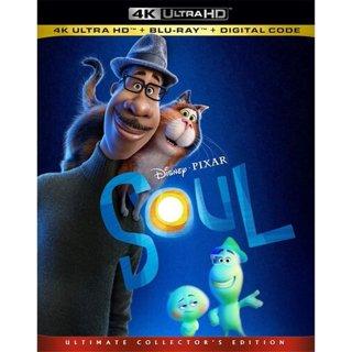 Brand New Disney's • PIXAR SouL 4K Ultra HD + BLU-RAY