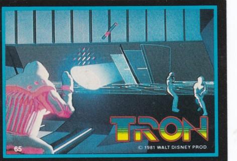 1981 DISNEY TRON SINGLE TRADING CARD #65