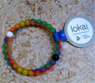 Lokai Balance Bead Bracelet in Rainbow size Large