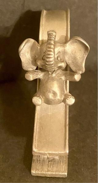 1980's Spoontiques Miniature Elephant on a Slide