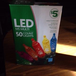 Led multi 50 count Christmas lights