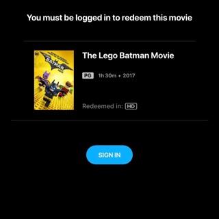 LEGO Batman Movie HD Digital Vudu MA