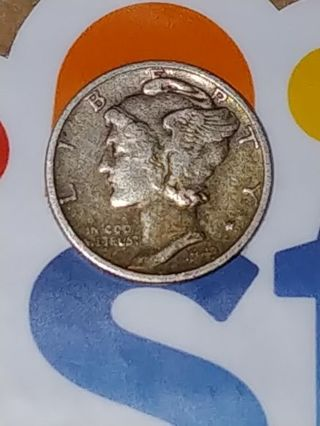 1943 MERCURY DIME■WINGED LIBERTY HEAD■SAN FRANCISCO MINT■VG-VF■.900 SILVER !!■FREE $HIPPING