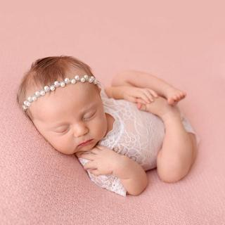 Sparkling Pearls Baby Head Band Elastic Newborn Photography Accessories Rhinestones Baby Girls Hea