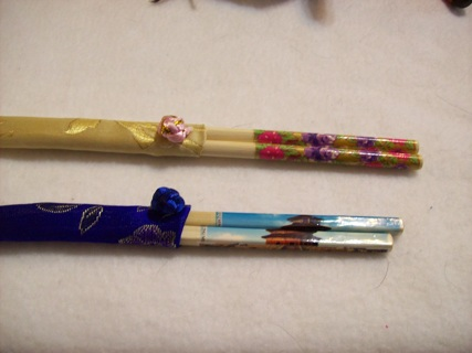 2 sets of Chop stick style hairsticks