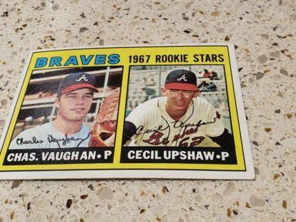 1967 Atlanta Braves vintage baseball card rookie stars Vaughn Upshaw