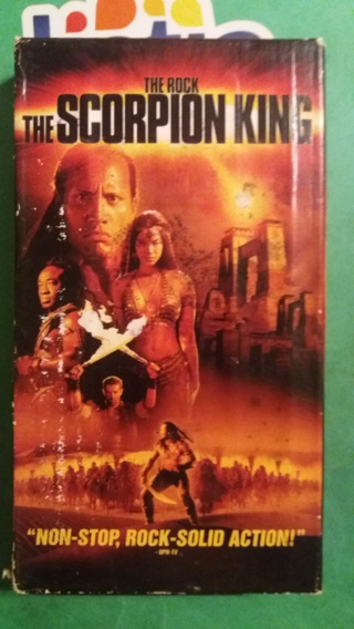 VHS movie the scorpion king  free shipping
