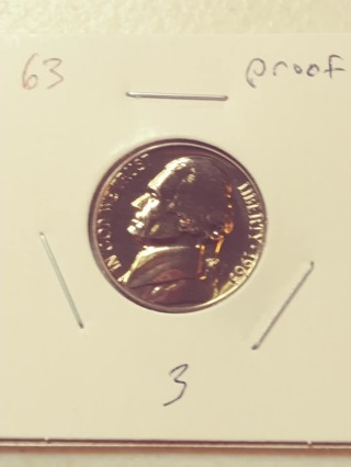 1963 Proof Cameo Jefferson Nickel! 314