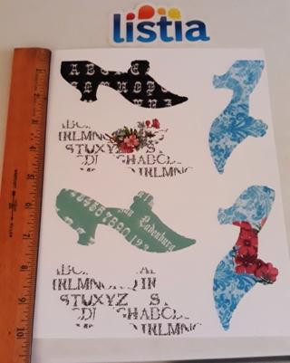 1 sheet of Fancy Shoe cut-outs - for scrapbooking, cards, etc.