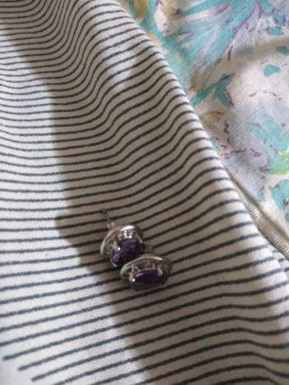 Purple stone earings