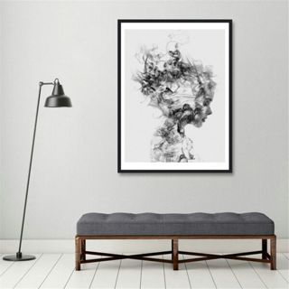 Nordic Modern Black White Girl Poster Canvas Wall Painting Pictures Home Decor