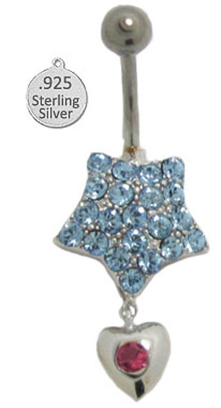 STERLING NAVEL JEWELRY NEW BOXED Your Choice
