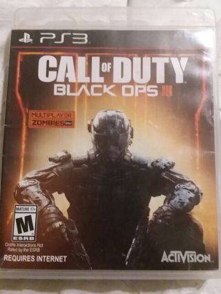 PlayStation 3 PS3 game Call of Duty Black Ops 3