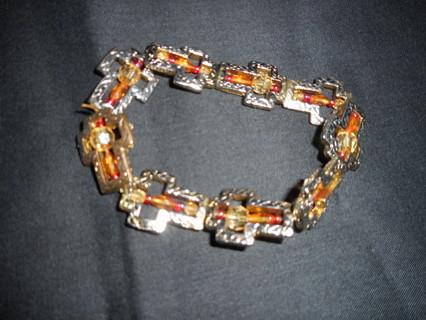 Amber cross bracelet