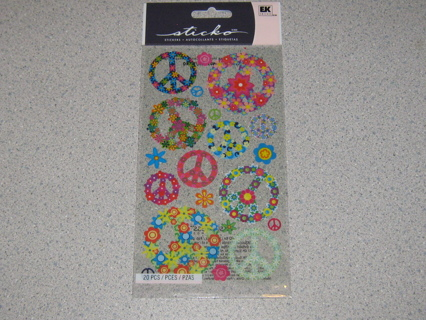 Sticko Peace & Flowers Stickers!!