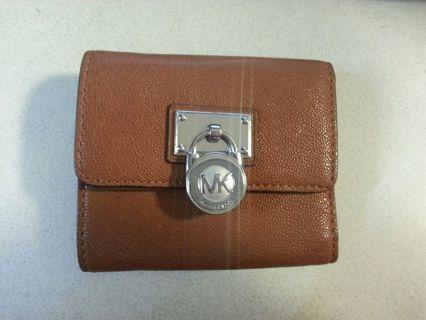 authentic Michael Kors bi-fold wallet-used