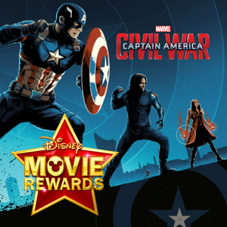 Disney Movie Rewards (DMR) ONLY ~ 200 Points for Captain America: Civil War 4K Ultra HD (NO MOVIE)