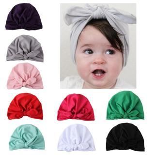 Fashion baby hat Solid Turban a headscarf for a girl Elastic caps for Girls 8 style baby cap Bow t