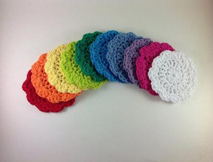 Free Crochet Flower Face Scrubbies Pattern Crochet Listia