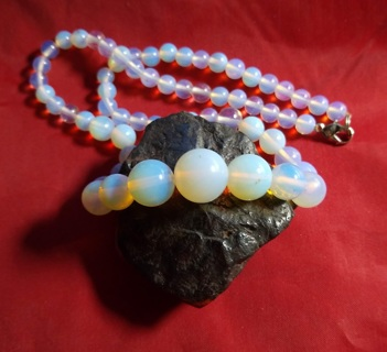 NECKLACE OPALS ALL NATURAL AND MY LAST OPAL NECKLACE ABOUT 17 INCHES LONG FANTASTIC STEAL OF A DEAL!