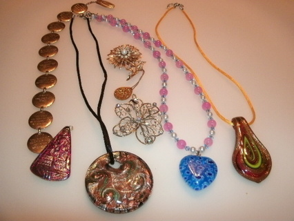 Lot of Jewelry - pendants, brooch, more