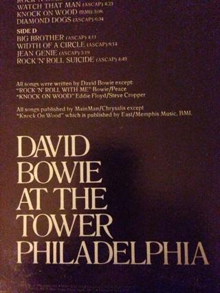 David Bowie Live Double Album Set