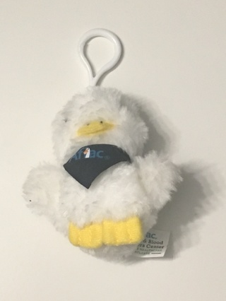NEW! CUTE LITTLE WHITE STUFFED ANIMAL AFLAC DUCK KEYCHAIN! FREE SHIPPING!