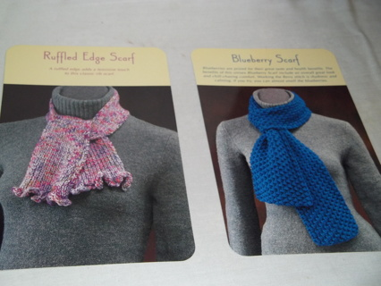 Free Two Knit Scarf Patterns Knitting Listia Com Auctions For