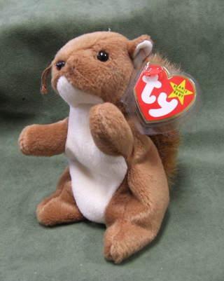 bb734492d0f Free  TY Original Beanie Babies Nuts the Squirrel - Dolls   Stuffed ...