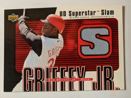 KEN GRIFFEY JR GAME WORN JERSEY CARD